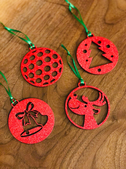 Set of Four Christmas Ornaments