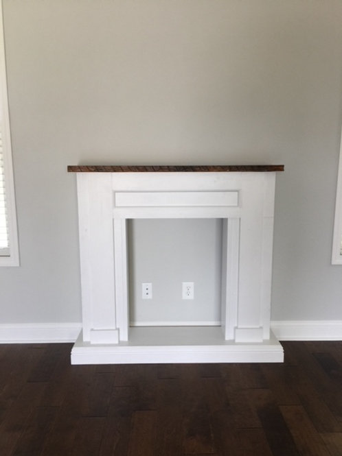 Custom Faux Fireplace and Mantle