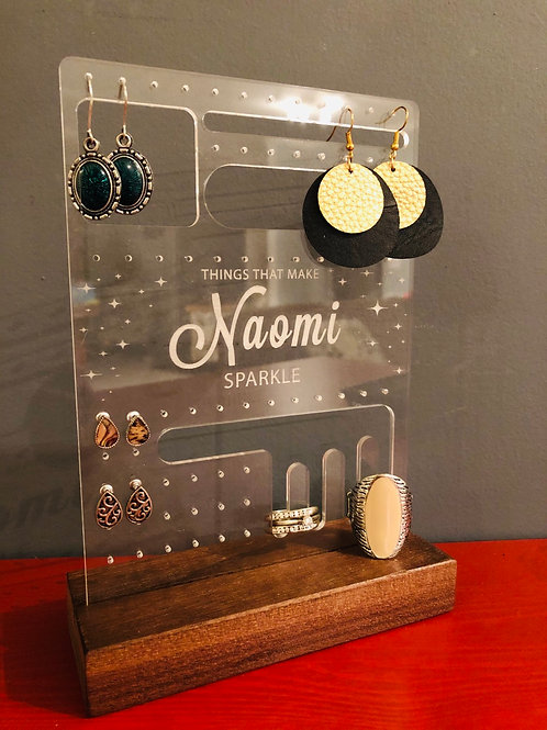Personalized Jewelry Display