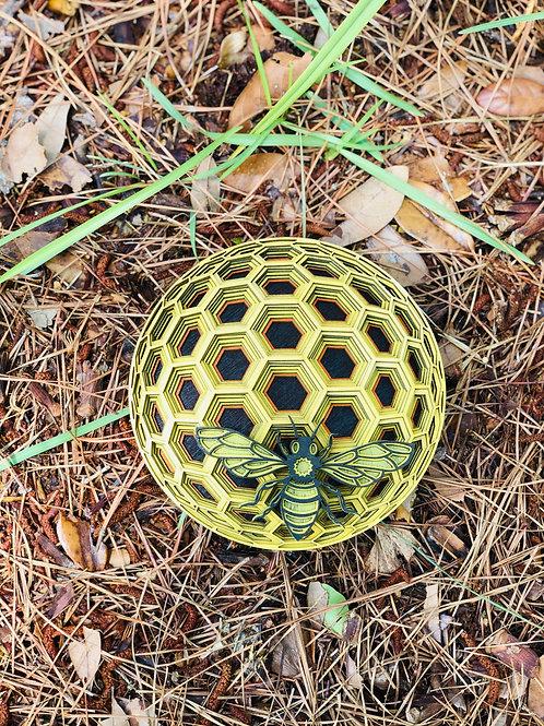 Bee & Honeycomb Art