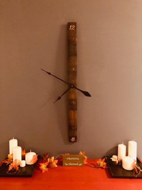 Whiskey Barrel Stave Clock
