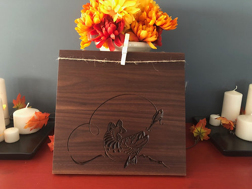 Walnut Fishing Picture Frame