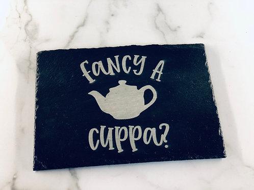 Fancy A Cuppa Slate trivet
