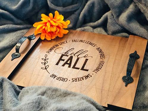 Hello Fall Tray