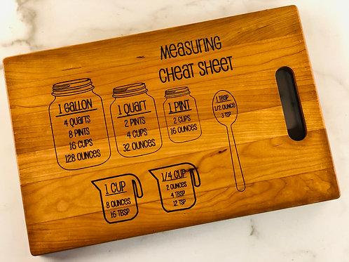 Cheat Sheet Cutting Board
