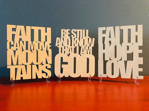 Small Faith Signs
