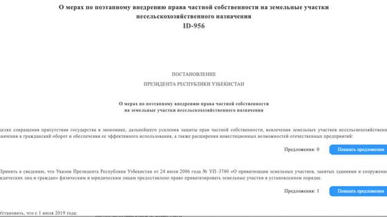 Президент Узбекистана издал Указ о Продаже в собственность земель Каракалпакстана нарушая Конституци