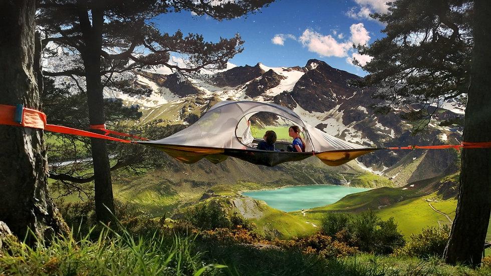Spider tree tent