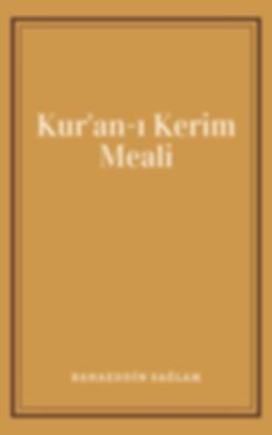 Kur'an-ı Kerim Meali E-kitap - Bahaeddin Sağlam