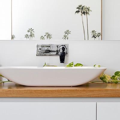 Palm Bathroom I 2019