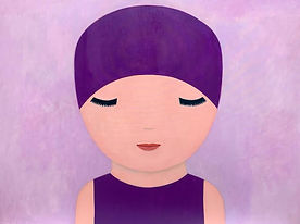 Big Purple Baby, acrylic on canvas, 120x