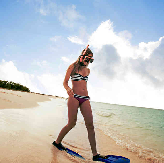 Snorkelen vanaf het strand