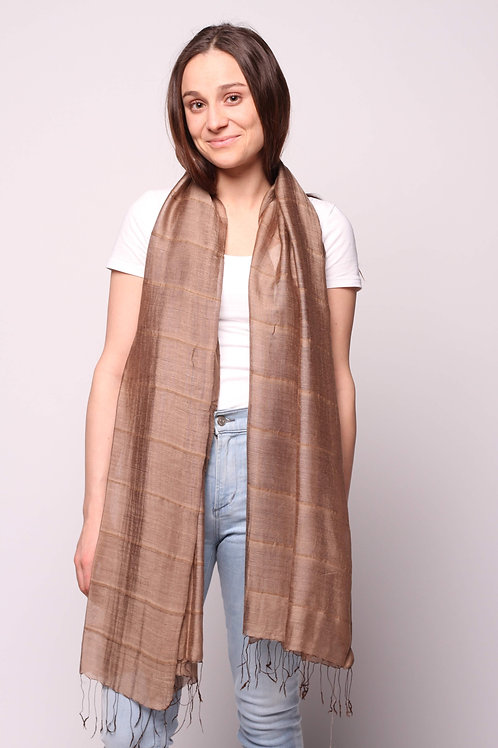 Hue Scarf in Taupe