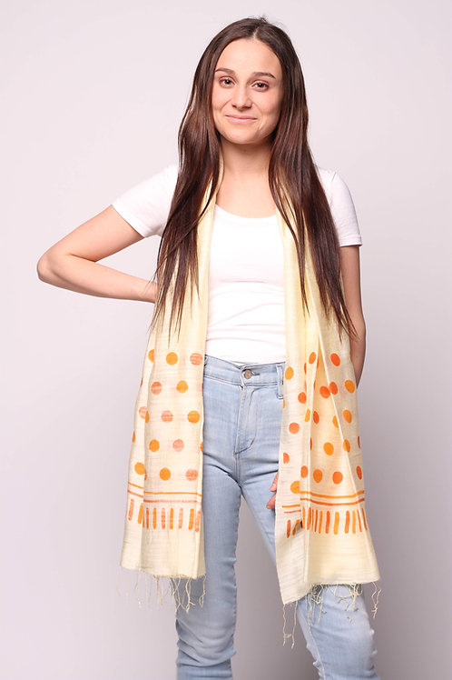 Dots Scarf in Yellow/Apricot