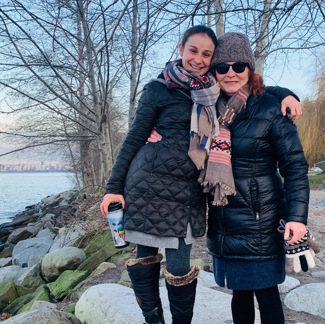 Paula and Sophie Spanish Banks Xmas Day