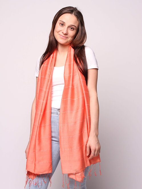 Hue Scarf in Burnt Orange