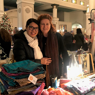 Thuy from Craftlink and Paula at Womens