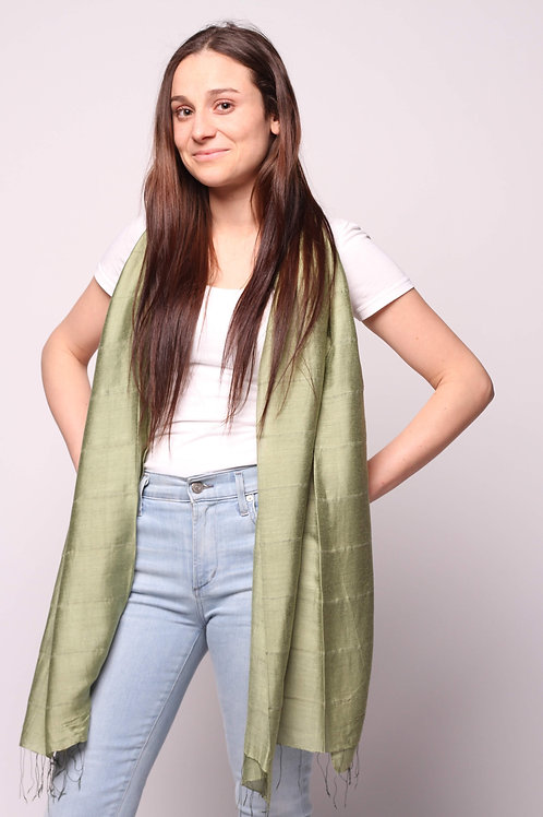 Hue Scarf in Olive Green