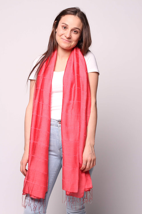 Hue Scarf in Lipstick Red
