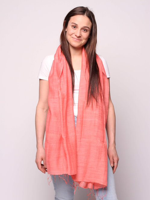 Hanoi Scarf in Coral