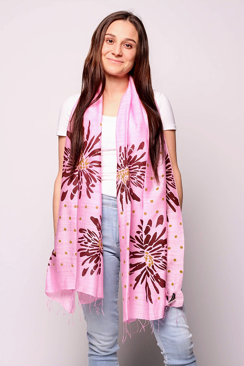 Dhalia Scarf in Ballet Pink/Port