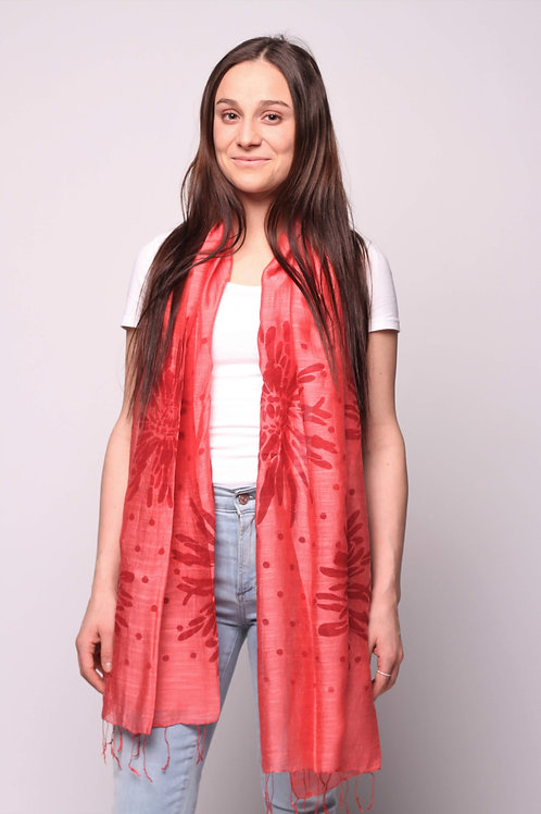 Dhalia Scarf in Chili Pepper Red