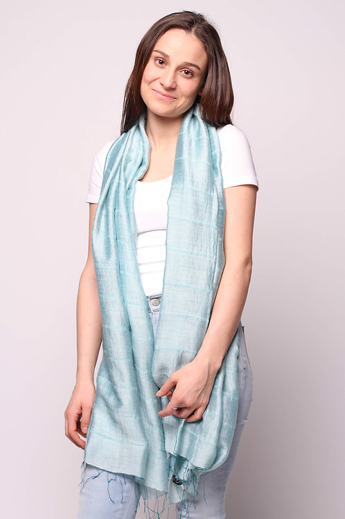 Hue Scarf in Soft Teal