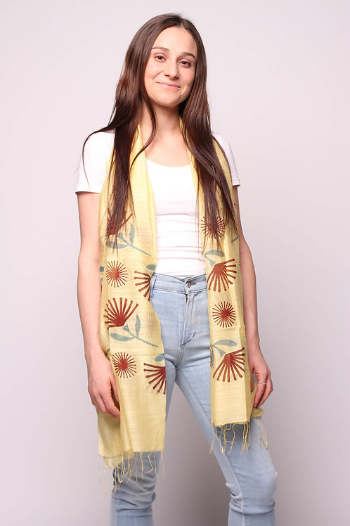 Fans Scarf in Canary