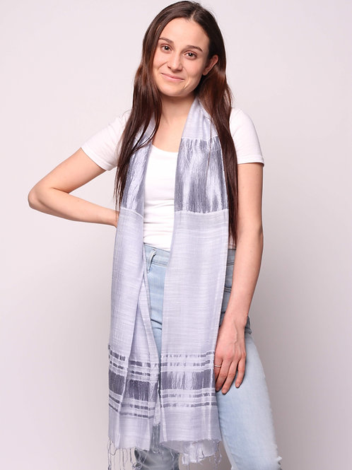 Hoi An Scarf in Grey Alloy