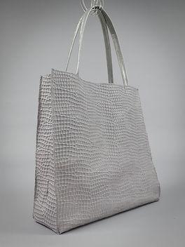 Strandtasche grau, 40cm breit, 38cm hoch