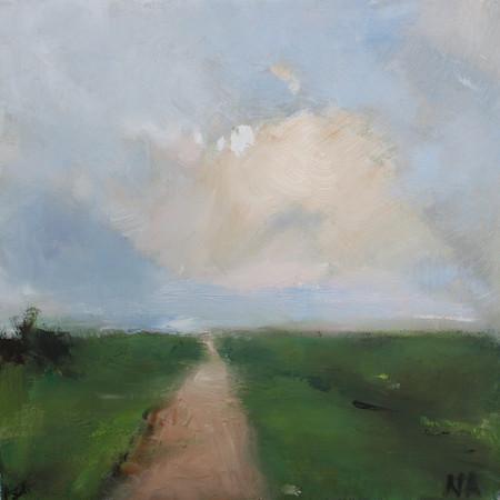 Die Wolke,  30 x 30, Öl auf Leinwand, 2
