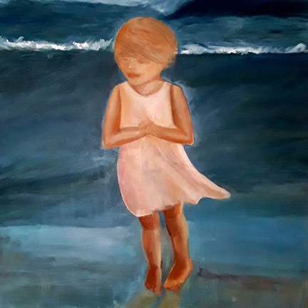 Kind am Meer