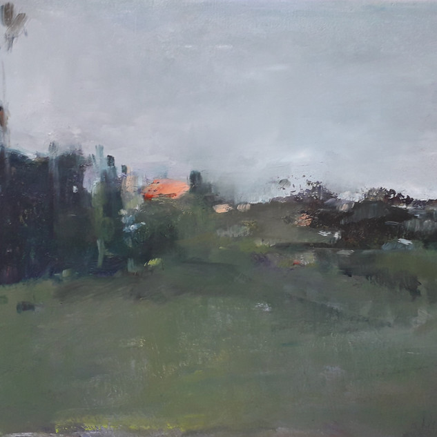 Impressionismus,_Dorf,_20_x_30,_Öl_auf_