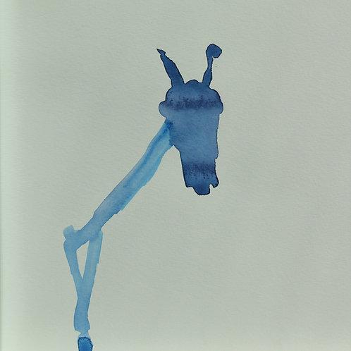 Bild, Blaues Pferd, 23 x 23
