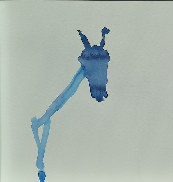 Blaues Pferd, 20 x 20, Aquarell.JPG