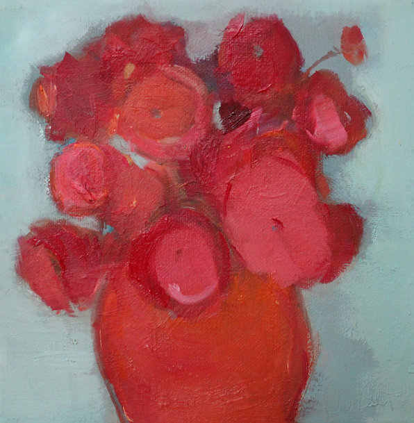 Mohnblumen, 20 x 20, oil on canvas