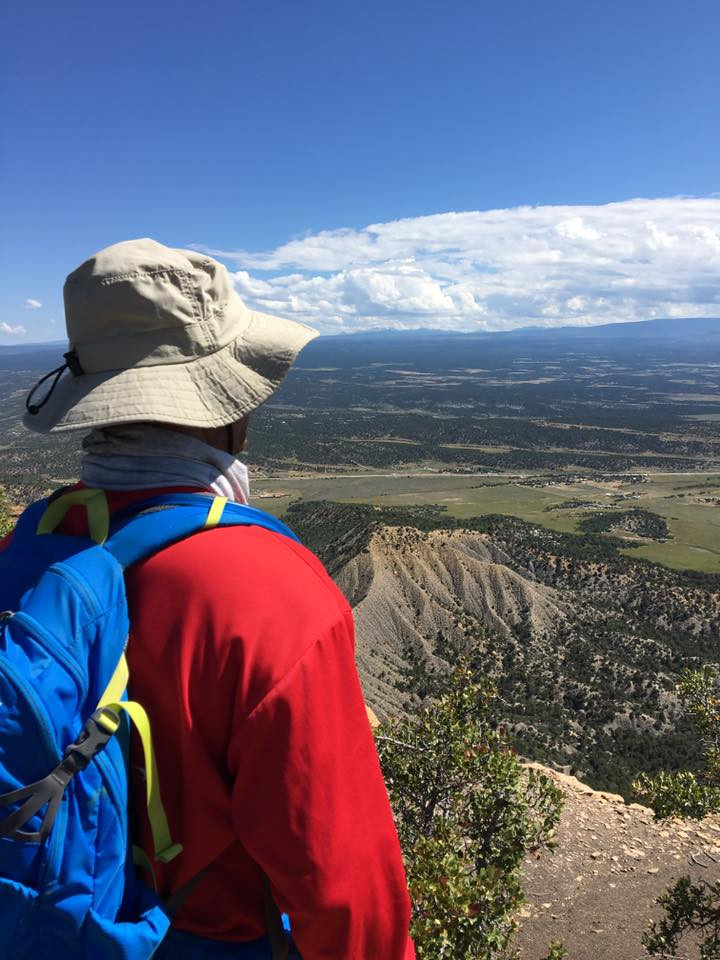 The view from atop Mesa Verde in Mancos, Colorado.