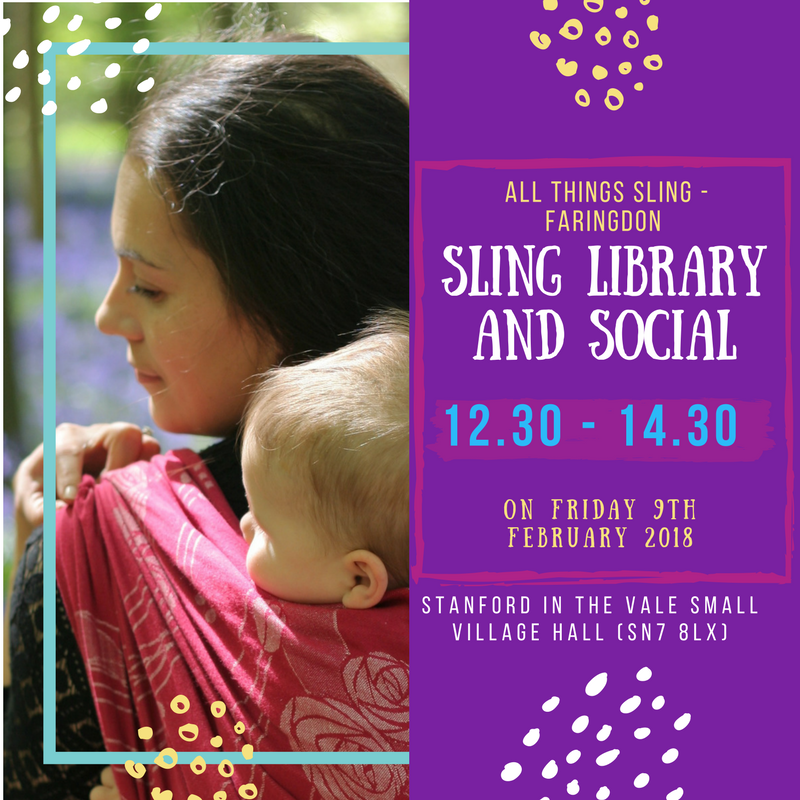 Sling Library and Social, 12.30 - 14.30, Friday 9th February 2018, Stanford in the Vale Small Village Hall