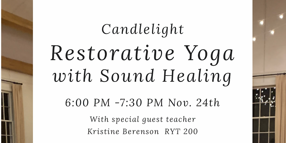 Candlelight Restorative Yoga with Sound Healing