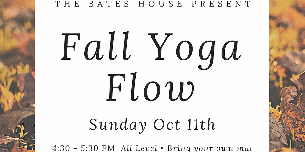 Bates House Outdoor Fall Yoga Flow