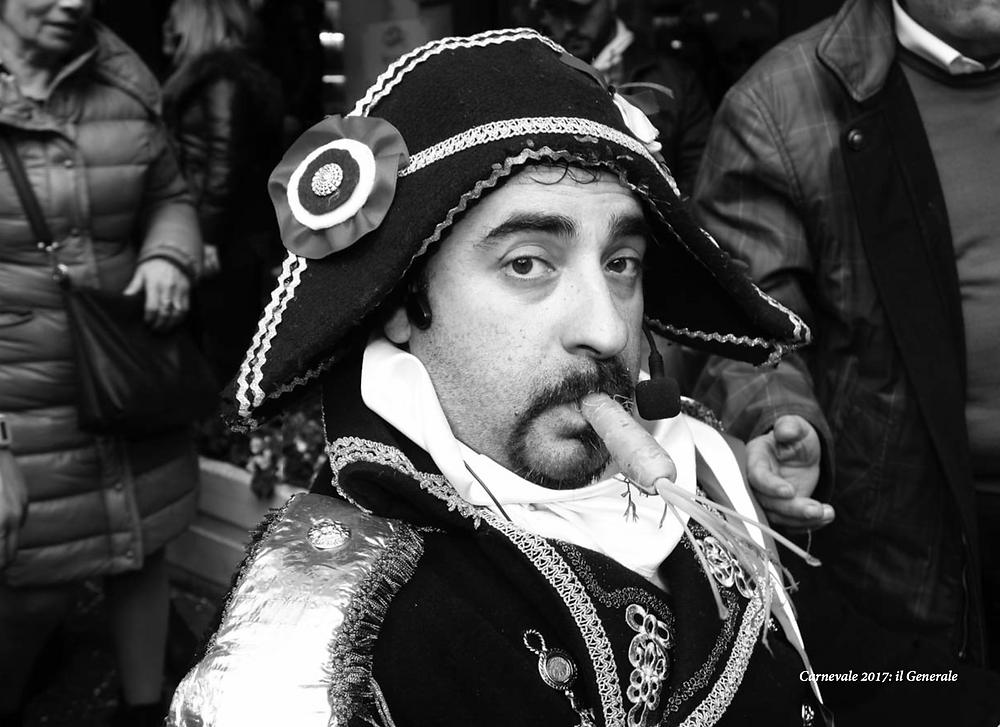 Generale Championnet durante il corteo del Carnevale Storico di Frosinone