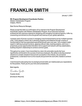 TopStack Cover Letter Sample - Canada 3.