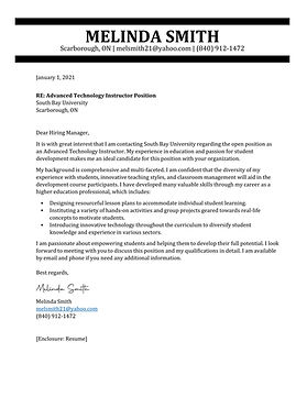 TopStack Cover Letter Sample - Canada 2.