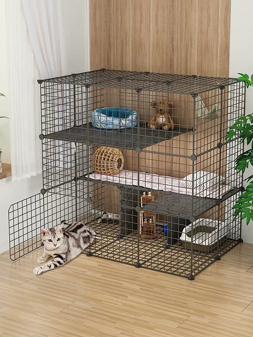 Cat Buildable Fence - 10pcs of Panels