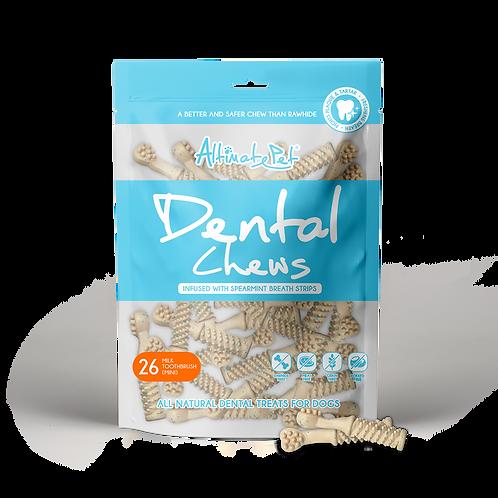AltimatePet Dental Chews Milk Toothbrush Mini 150g (26pcs)