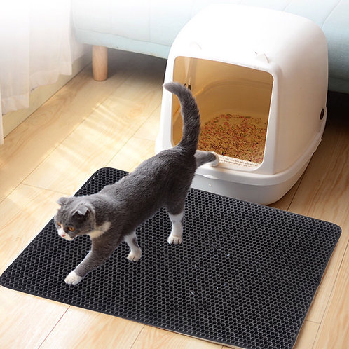 Cat Litter Mat in Black