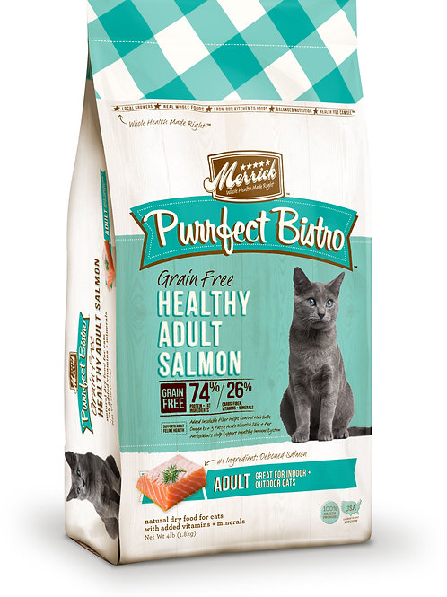 Merrick Purrfect Bistro Grain Free Adult Salmon 4lbs