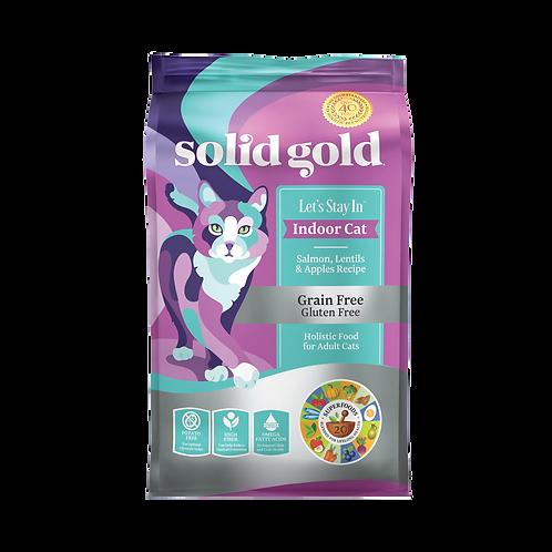 SOLID GOLD GRAINFREE INDOOR SALMON (LET'S STAY IN INDOOR)