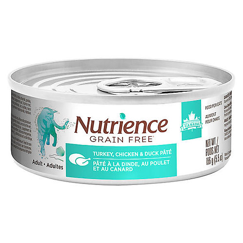 Nutrience GF Cat Turkey, Chicken & Duck Pate 156g