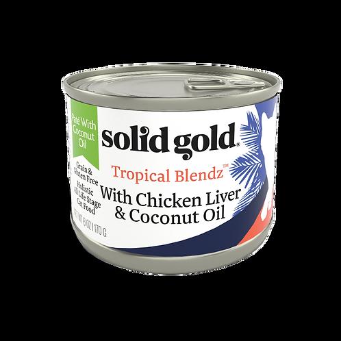 Solid Gold Tropical Blendz GF Chicken Liver Pate 6oz